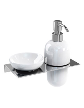 Related Britton Stainless Steel Shelf With Soap Dish And Soap Dispenser