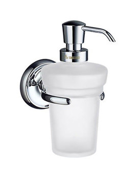 Villa Frosted Glass Soap Dispenser With Holder