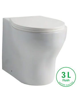 Vera Gloss White Back-To-Wall Floor Standing WC Pan 550mm