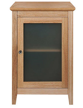 Esteem Oak Side Unit With Wooden Or Frosted Glass Door RH