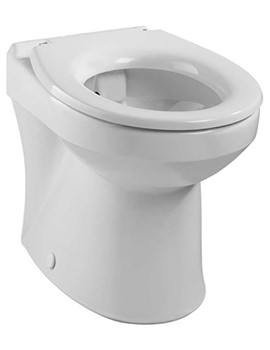 Twyford Sola Rimless 400 Back-To-Wall WC Pan 508mm - SA1968WH