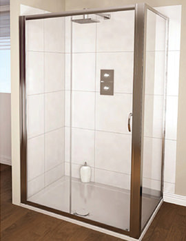 Aqua 4 Sliding Shower Door 1200mm Polished Silver - FEN1145AQU