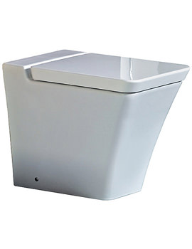 Opulence Back To Wall WC Pan With Soft Close Seat 547mm White