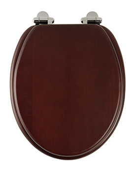 Traditional Mahogany Solid Wood Toilet Seat - 8081MSC
