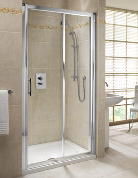 Twyford Geo6 Sliding Shower Door 1600mm - G60503CP