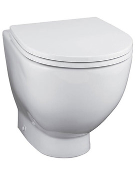 White Back To Wall WC Pan 530mm - E000101