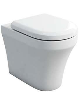 Fine S40 BTW WC Pan With Soft Close Angled Seat