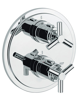 Atrio Ypsilon Thermostatic Bath Shower Mixer Trim - 19395000