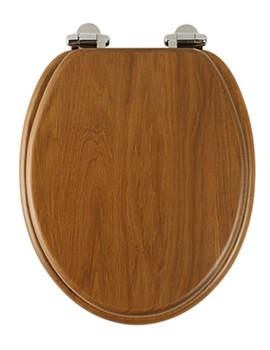 Traditional Honey Oak Solid Wood Toilet Seat - 8081HOSC
