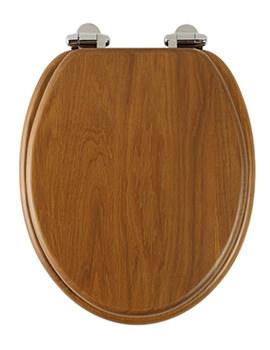 Traditional Honey Oak Solid Wood Toilet Seat - 8081HOSC