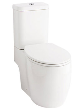 Eternity Square Open Back-To-Wall WC With Cistern And Seat