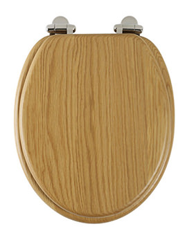 Traditional Natural Oak Solid Wood Toilet Seat - 8081NOSC