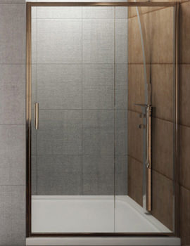 Beo Designer Sliding Shower Door 1200 x 1850mm