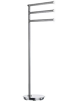 Smedbo Outline Lite Free Standing Triple Towel Rail Base Round