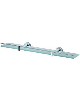 Aqualux Haceka Kosmos 600mm Glass Shelf Chrome - 1115629