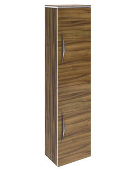 Memoir Walnut 1400mm 2 Door Wall Hung Tall Unit
