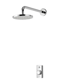 Visage Digital Concealed Shower With Wall Fixed Head - Gravity-fed
