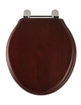 Rhodes Greenwich Mahogany Solid Wood Toilet Seat - 8099M