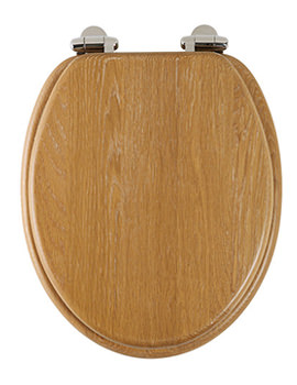 Traditional Limed Oak Solid Wood Toilet Seat - 8081LISC