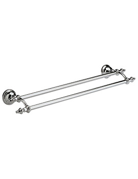 Imperial Avignon Chrome Wall Mounted Double Towel Rail 60cm