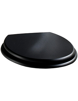 Twyford Manhattan Black Ash Toilet Seat And Cover - MH7811BA