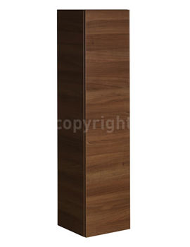 Elite Walnut Wall Hung Tower Storage Unit 350 x 1440mm