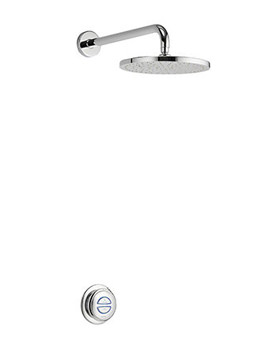 Quartz Digital Concealed Shower With Wall Fixed Head - HP Combi