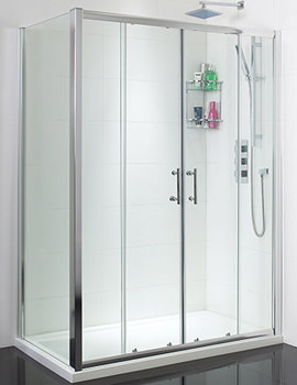 Twin Sliding Shower Door 1500mm - SE049