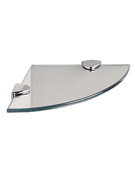 Classic Clear Glass Corner Shelf 200mm - 292320