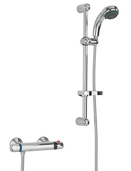 Thermostatic Bar Valve With Slider Rail Kit Chrome