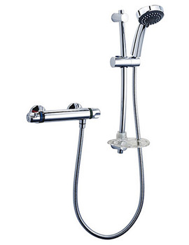 Unichrome Dove Eco Thermostatic Shower Mixer and Kit-ECODOTHBM