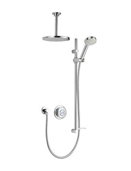Aqualisa Quartz Concealed Digital Divert Shower And Ceiling Head - Gravity