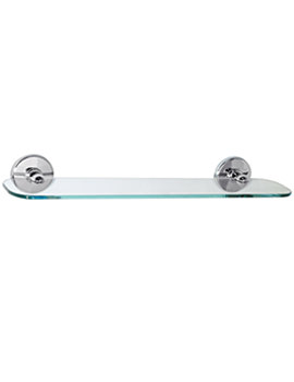 Wessex Toughened Clear Glass Shelf 450mm Wide - 3512.02