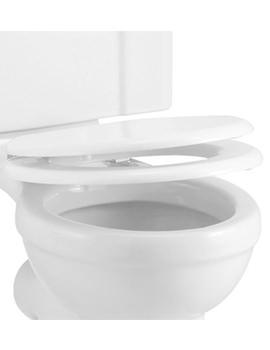 Gloss White Soft Close Toilet Seat - S18