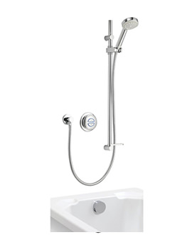 Aqualisa Quartz Concealed Digital Divert Shower And Bath Fill - Gravity-fed