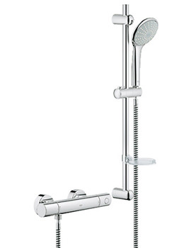 Grohtherm 1000 Thermostat Shower Mixer Valve With Euphoria Shower Set
