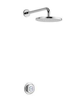 Quartz Digital Shower With Wall Fixed Head - Gravity Pumped