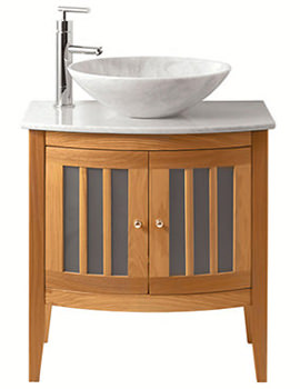 Linea Vessel Bowl Unit With 2 Bow Fronted Doors