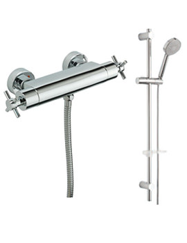 Erin Exposed Thermostatic Shower Valve With Slide Rail Kit