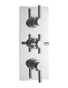 Hudson Reed Tec Pura Plus Triple Concealed Thermostatic Shower Valve-A3023