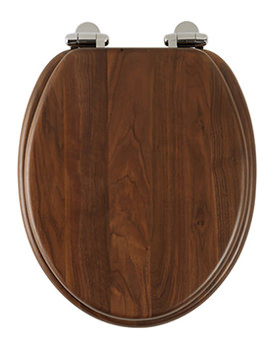 Traditional Walnut Solid Wood Toilet Seat - 8081AWSC