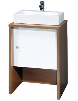 Ultra Washstand With White Door 500mm - VTY039