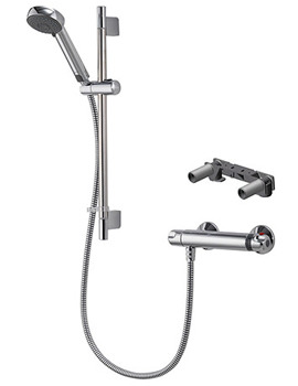 Midas 100 Thermostatic Bar Shower Mixer With Bracket
