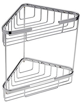 Wall Mounted Double Triangular Corner Basket - 66440