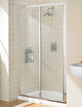 Classic Silver Framed Slider Door 1200 x 1850mm - LK12S120S