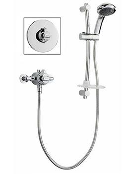 Unichrome Dart Eco Thermostatic Shower Mixer And Kit-ECODATHCM