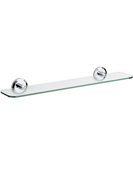 Solo Glass Shelf Chrome Plated - SO SHELF C