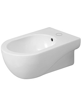 Nuvola Gloss White 1 Tap Hole Wall Hung Bidet 550mm Projection