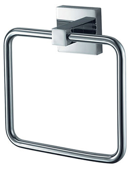 Aqualux Haceka Mezzo Chrome Towel Ring - 1110856