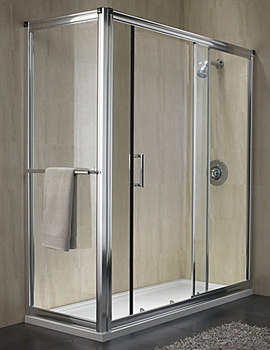 Twyford Hydr8 Sliding Shower Enclosure Door 1500mm - H89501CP